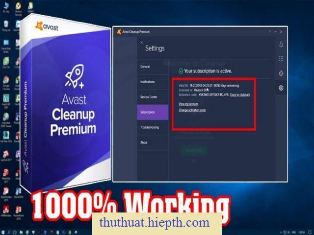 Share Key Avast Cleanup Premium mới nhất và Link Download