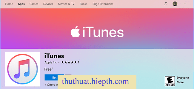 iTunes Is Now in the Microsoft Store