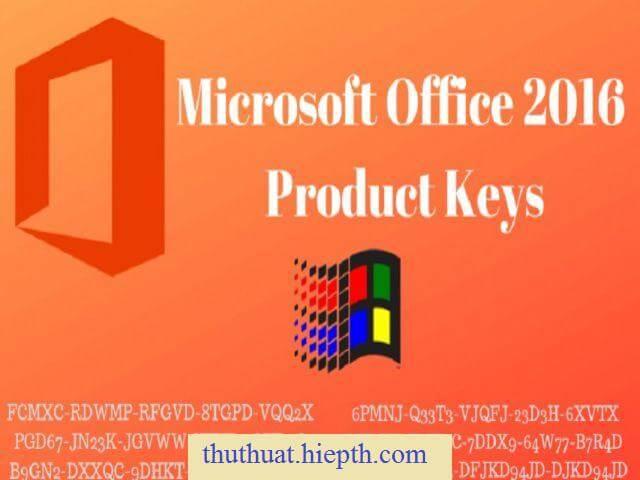 Trộn bộ Key office 2016 miễn phí và mới nhất 2020