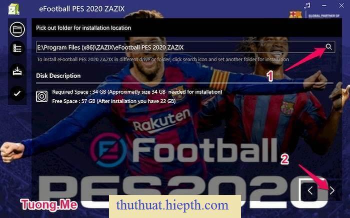 Hướng dẫn cài đặt PES 2020 Lite