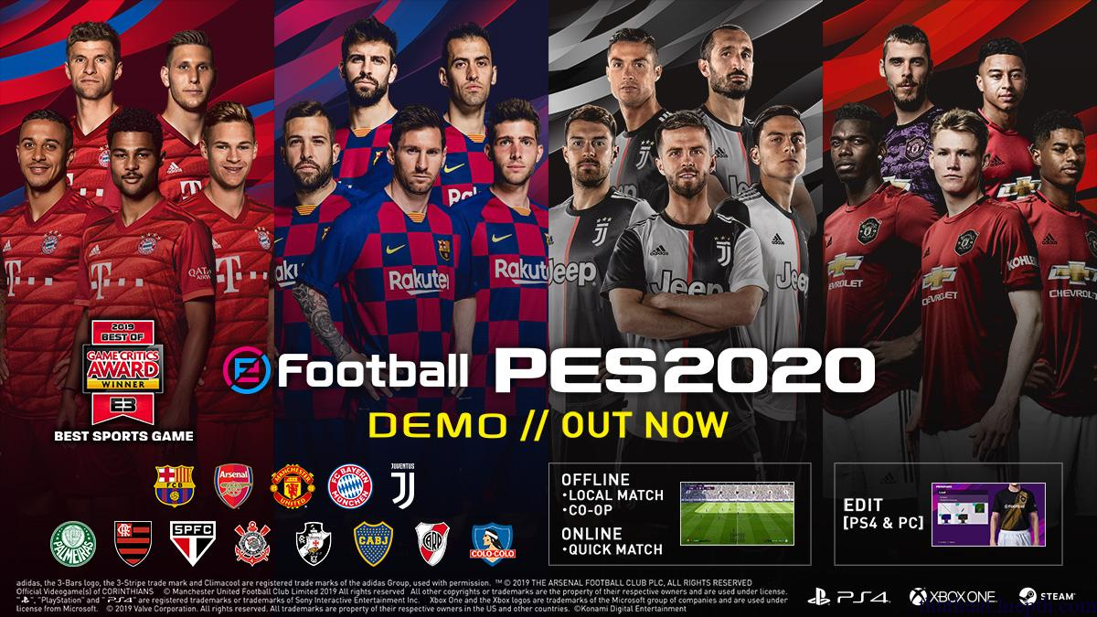 Giới thiệu game eFootball pes 2020 (pes 2020 full crack)