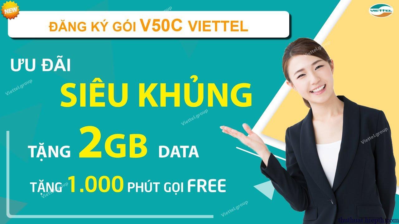 V50C là gói cước Combo Data + Thoại mới nhất