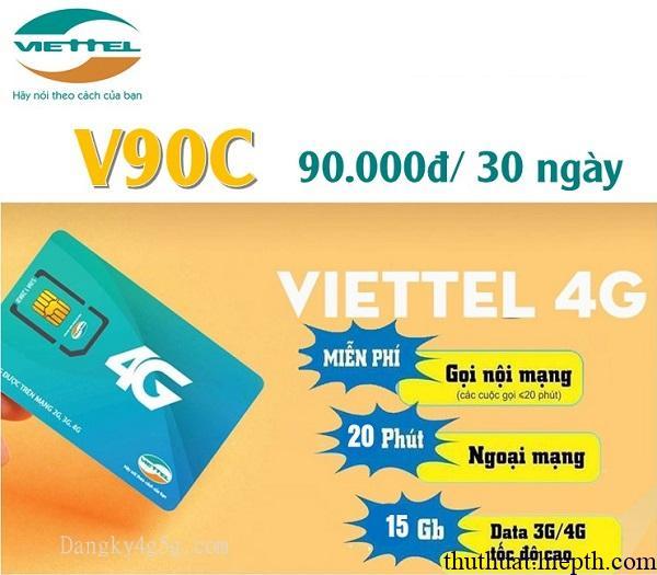 Đăng ký gói V90C Viettel ưu đãi hàng loạt dịch vụ chỉ 90K